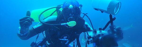 ausrüstung für unterwasseraufnahmen